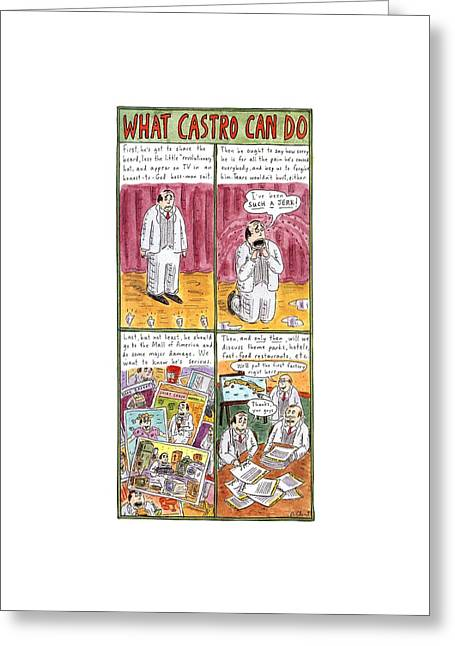 What Castro Greeting Card by Roz Chast