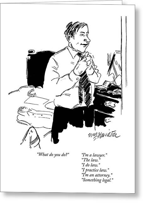 What Do You Do?      I'm A Lawyer. The Law. I Greeting Card