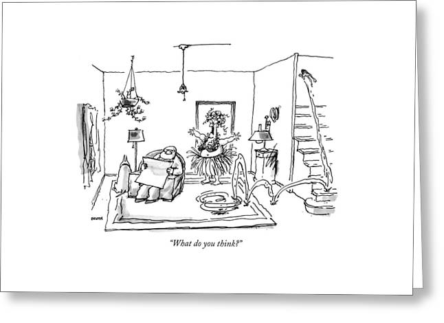 What Do You Think? Greeting Card by George Booth