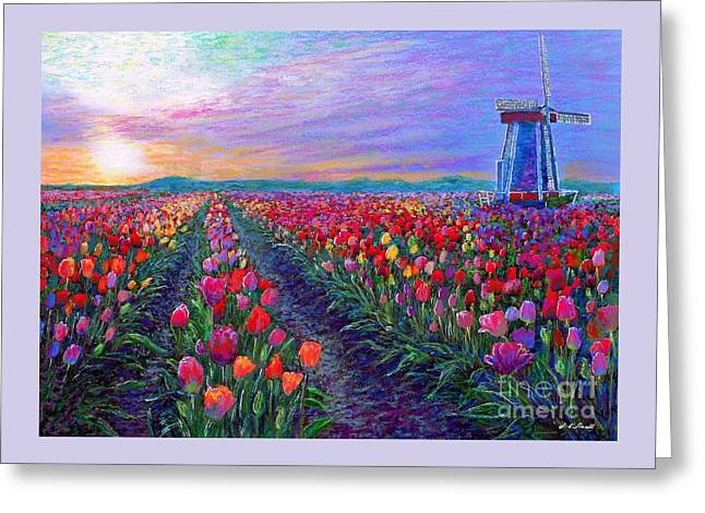 Tulip Fields, What Dreams May Come Greeting Card