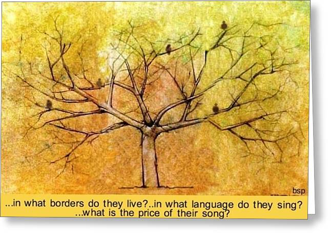 What Is The Price Of Their Song? Greeting Card by Robert Stagemyer