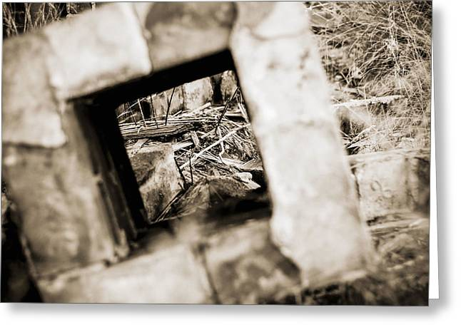 Greeting Card featuring the photograph What Remains by Amber Kresge