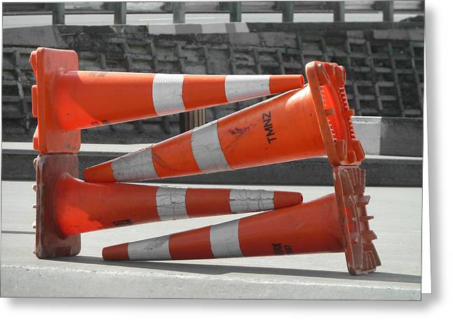 What Traffic Cones Do When Off Duty Greeting Card by Steve Taylor