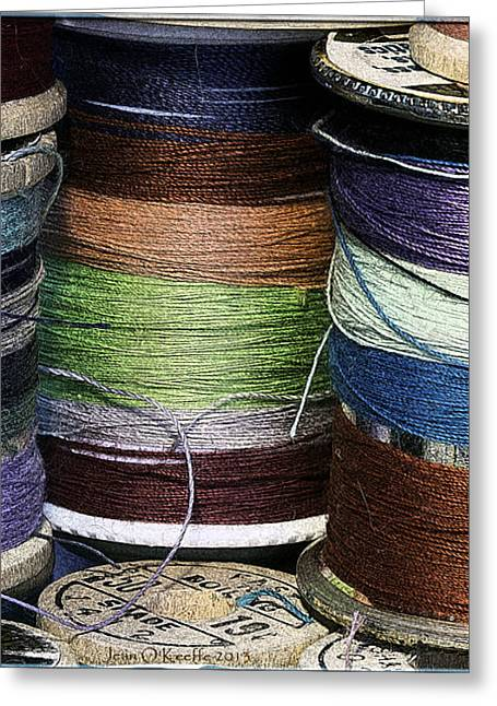 Spools Of Thread Greeting Card
