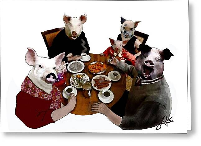 What You Eat 1 Greeting Card by Jann Paxton