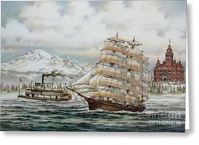 Whatcom Heritage Greeting Card by James Williamson