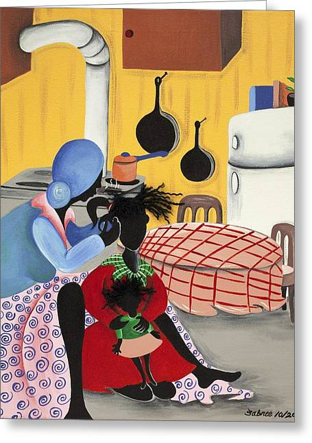 What's Cooking Greeting Card by Patricia Sabree