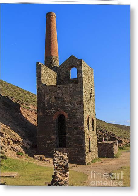 Wheal Coats Chapel Porth Cornwall Greeting Card by Brian Roscorla