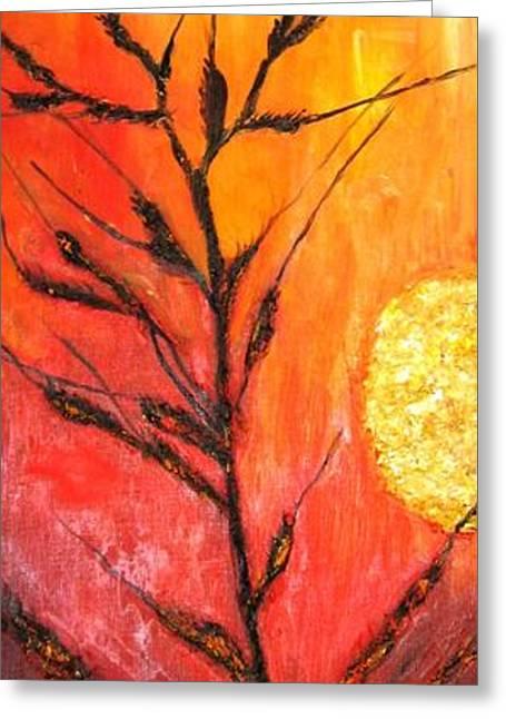 Wheat Greeting Card by Doris Cohen