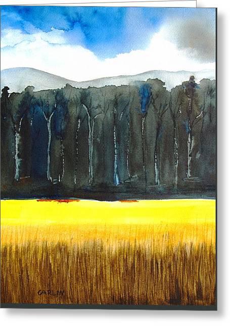 Wheat Field 2 Greeting Card by Carlin Blahnik