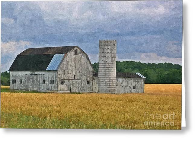 Wheat Field Barn Greeting Card