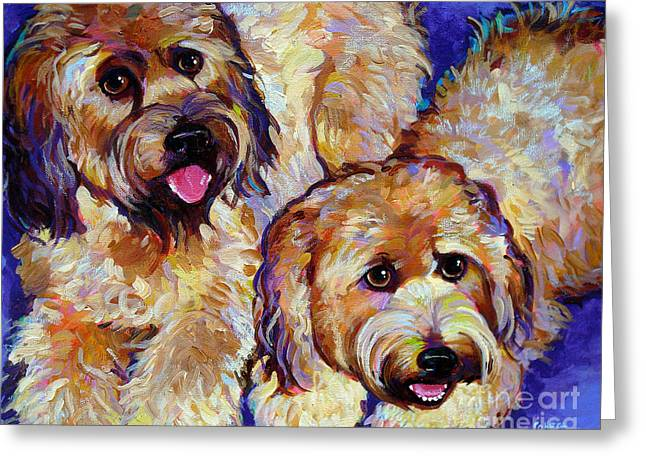 Wheaten Terriers Greeting Card by Robert Phelps