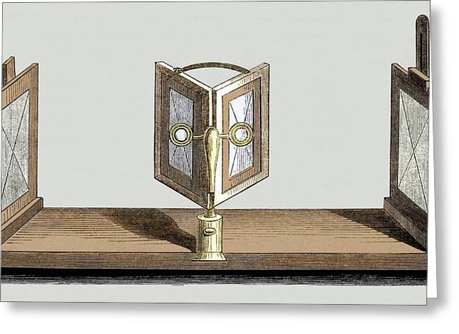 Wheatstone's Reflective Stereoscope Greeting Card by Sheila Terry