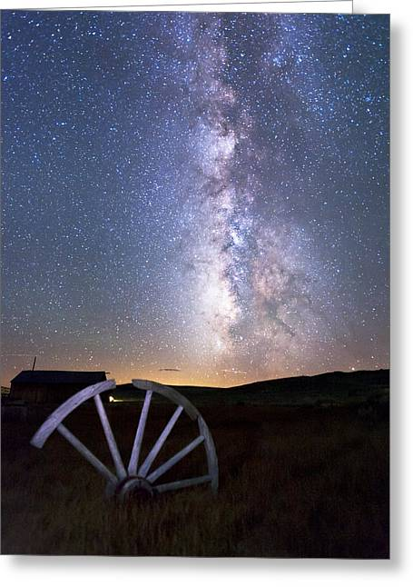 Wheel In The Sky Greeting Card by Cat Connor