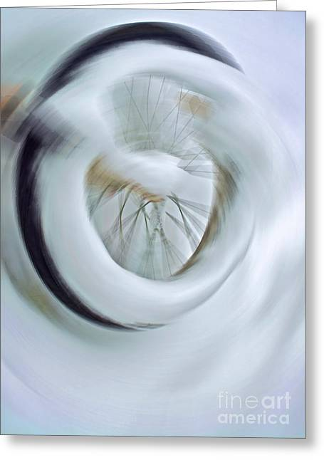 Wheel Spinning Free Greeting Card by Gwyn Newcombe