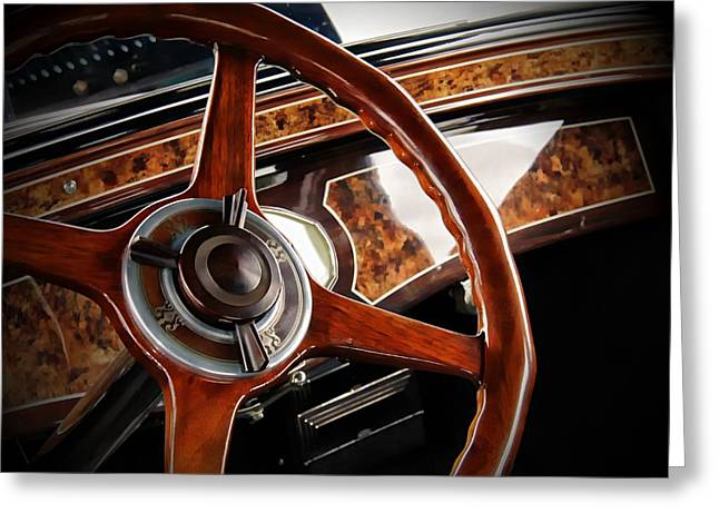 Classic Car Greeting Card featuring the photograph Wheel To The Past by Aaron Berg