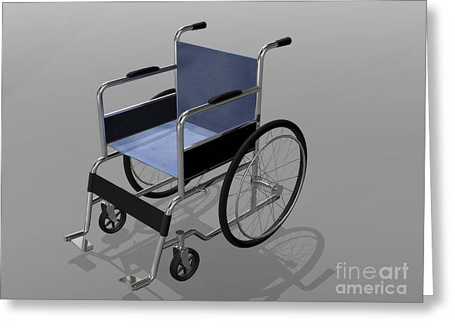 Wheelchair Illustration Greeting Card by Stocktrek Images