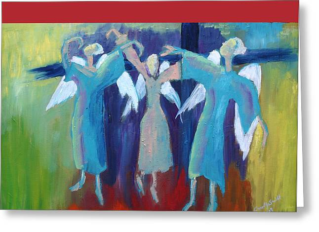 When Angels Dance Greeting Card