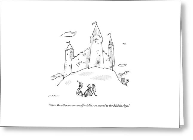 When Brooklyn Became Unaffordable Greeting Card by Michael Maslin