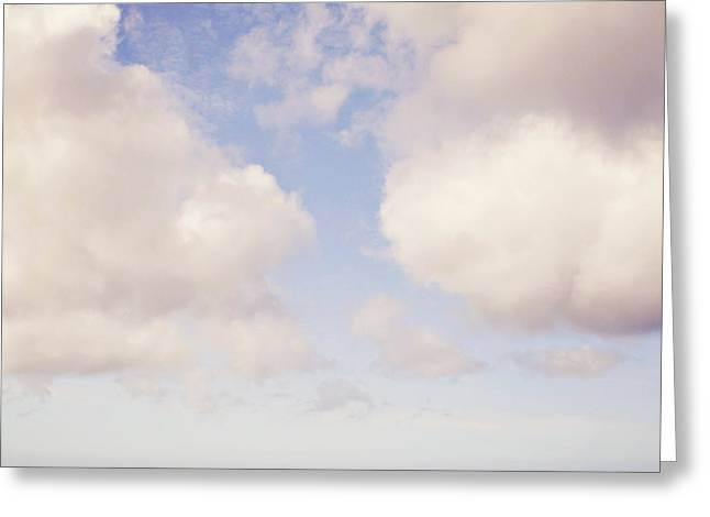 When Clouds Meet The Sea Greeting Card