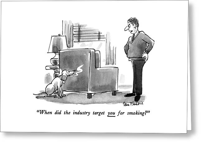 When Did The Industry Target You For Smoking? Greeting Card