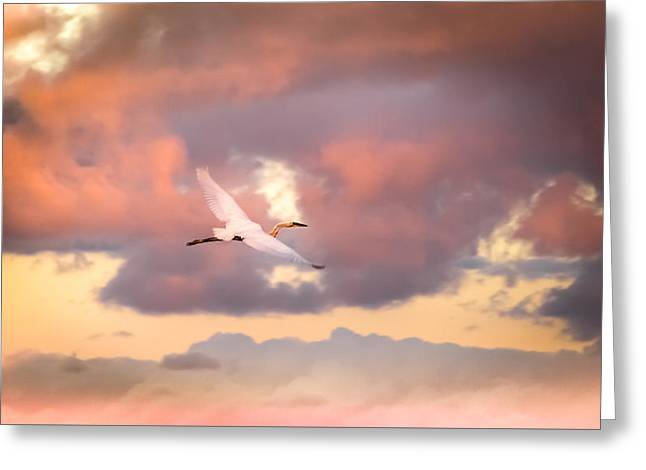 When Heaven Beckons Greeting Card by Karen Wiles