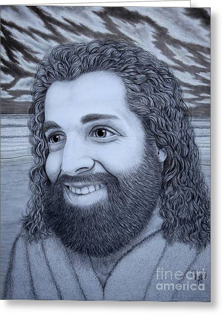When Jesus Thinks Of Me Greeting Card by Dale Crum