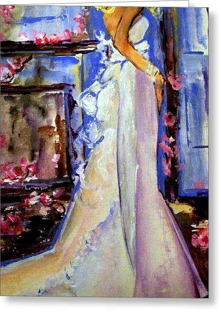 When Lovely Women Greeting Card by Helena Bebirian