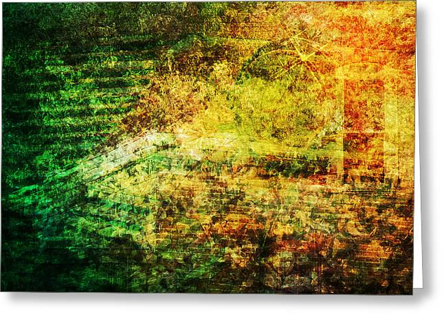 Greeting Card featuring the mixed media When Past And Present Intersect #1 by Sandy MacGowan