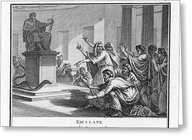 When Plague-afflicted Romans  Come Greeting Card by Mary Evans Picture Library