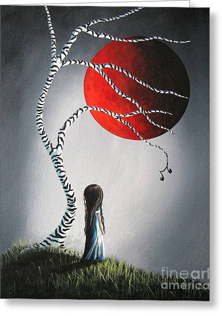 When She Thinks About You By Shawna Erback Greeting Card by Shawna Erback