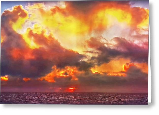 When Skies Become Abstract Greeting Card by Hanny Heim