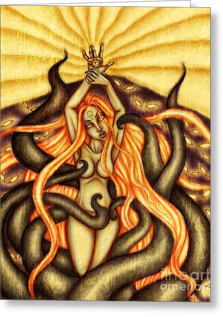 When Spirits Rise And Demons Dance Greeting Card by Coriander  Shea