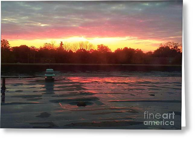 When Sunrise Calls Greeting Card by Judy Via-Wolff