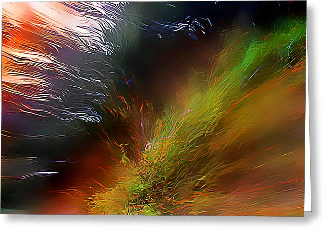 When The Light Burned Greeting Card by Wernher Krutein