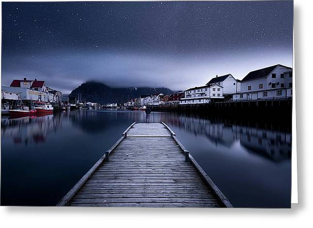 When The Night Comes Falling From The Sky Greeting Card