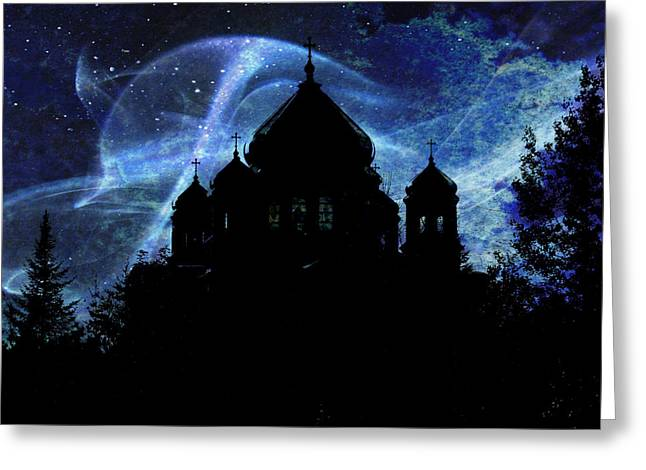 When The Night Comes Greeting Card by Zinvolle Art
