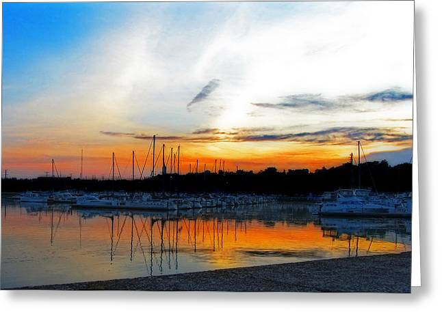 When The Sun Goes Down Greeting Card by Susan  McMenamin