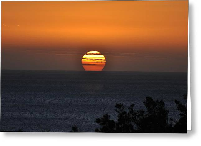 When The Sun Sets Greeting Card by Sabine Edrissi