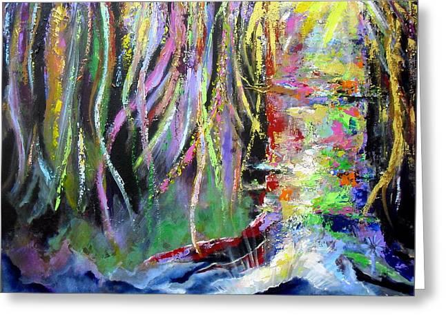 When Trees Dream Greeting Card by Jodie Marie Anne Richardson Traugott          aka jm-ART