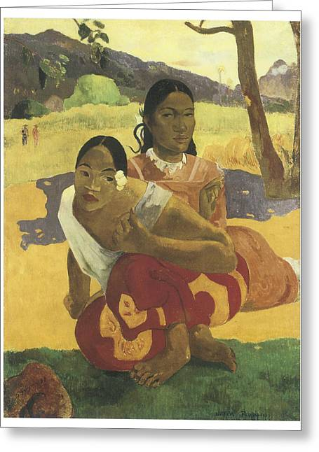 When Will You Marry Me Greeting Card by Paul Gauguin