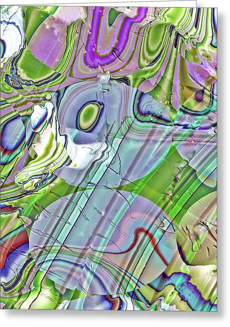 Greeting Card featuring the digital art When Worlds Collide by Richard Thomas