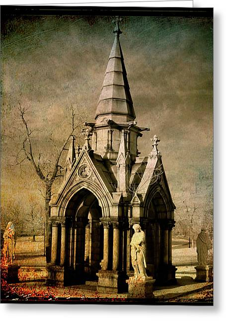 Where Angels Meet Greeting Card by Gothicrow Images