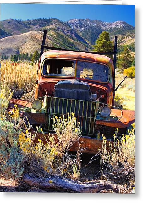 Rust In Peace Greeting Card by Henry Inhofer