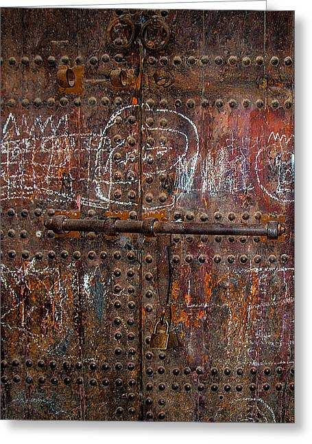 Where Do The Doors In Marrakech Lead? Greeting Card
