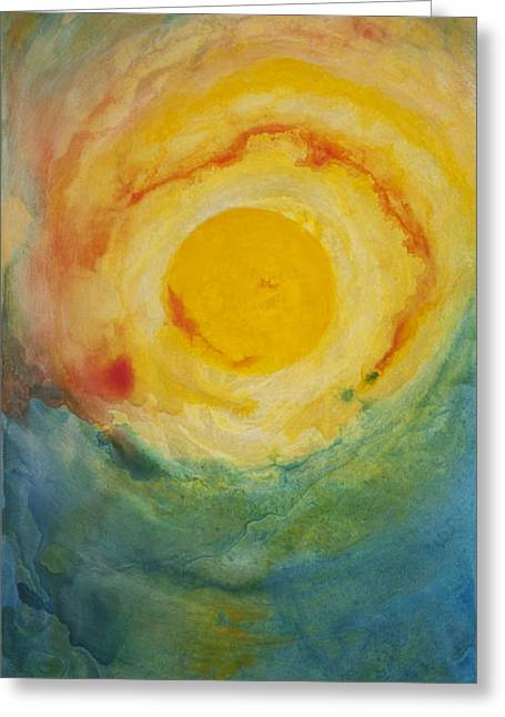 Where Earth Meets Sky Greeting Card by Todd Karleskein