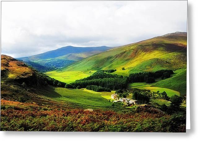 Where Is Soul Flying. Wicklow Mountains. Ireland Greeting Card by Jenny Rainbow