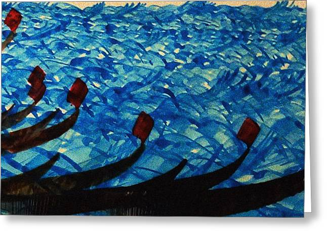 Dramatic Waves Greeting Card by Mah FineArt