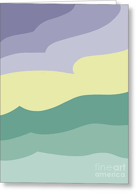 Where Sea Meets Sky Greeting Card by Henry Manning