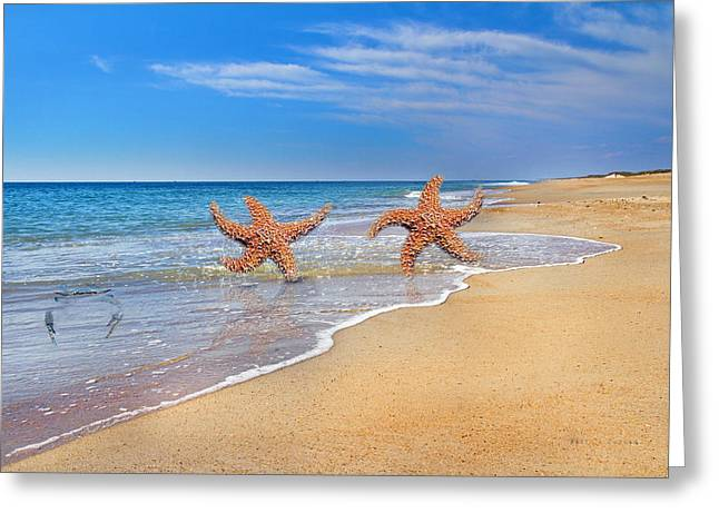 Where Stars Are Born Greeting Card by Betsy Knapp